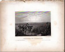 1860 PLATE ENGRAVING- THE UNITED STATES ILLUSTRATED WEST V. 1 PRAIRIE NEAR ARKAN