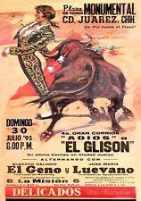 MAGNET BULLFIGHTING  PLAZA de TOROS Juarez Chihuahua 1995 Not Real Poster