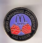 RARE PINS PIN'S .. MC DONALD'S RESTAURANT SWING MANAGER LA VEGAS CASINO 1999 ~15