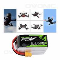 4X OVONIC 6S Lipo Battery 22.2V 1550mAh 100C W/ XT60 Plug for FPV Quad RC Cars