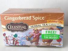 Celestial Seasonings Collectors Ton Gingerbread Spice Holiday Herb Tea 20 bag