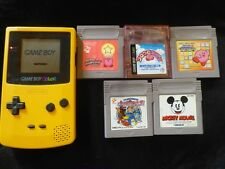 Game Boy Color Console & Kirby's Star Stacker Mickey Mouse Parodius Etc JAPAN JP