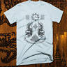 Muay Thai T-shirt MMA, UFC, Jiu Jitsu Fight Club Thai Box Sak Yant Tattoo Blue