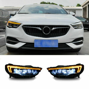 For Buick Regal LED Headlights Projector LED DRL 2018-2019 Replace OEM Halogen