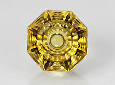 Citrine. Precision Cut. Flat Facet With Carving. 13 mm. 8.05 cts & Flawless.