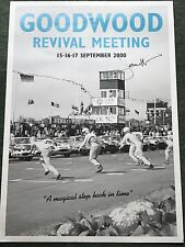 Jacky Ickx Hand Signed Goodwood Revival Meeting Poster 2000 Very Rare.