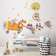 R00502 Wall Stickers Adesivi Murali Camerette animali giungla 30x120 cm