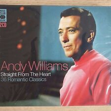 2CD NEW SEALED - ANDY WILLIAMS - STRAIGHT FROM THE HEART - Pop Music CD Album