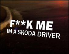 SKODA DRIVER Car Decal Vinyl Vehicle Bumper Sticker Octavia Yeti Citigo Fabia