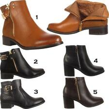 Unbranded Buckle Cuban Heel Casual Boots for Women