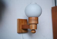 1x von 2 TRUE VINTAGE 70´s WANDLAMPE danish design 70er Opal Globe Kugel Holz