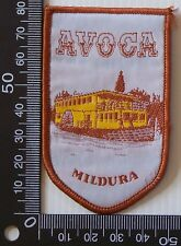 VINTAGE AVOCA MILDURA EMBROIDERED SOUVENIR PATCH WOVEN CLOTH SEW-ON BADGE