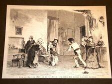 Teatro nel 1875 Scena del Moroso de la Nona Commedia Maestro Giacinto Gallina