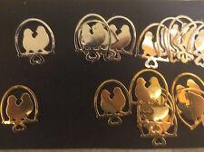 """Cardmaking dado corta """"Amor Aves En Swing"""" Oro/Plata Espejo tarjeta Qty 20 4x3cms"""