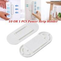 10* Patch Panel Holder Sticker Wall Mount Socket No Trace Free Punch Hook