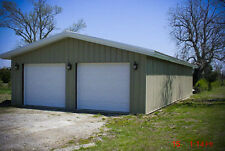 30'x36'x10' Steel Garage/Workshop Building Kit Excel Metal Building Systems Inc