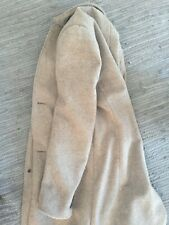 H&M BEIGE MARL Coat with stand up collar - Eur 46, UK 36R