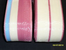 Lawn chair replacement webbing, 144ft new, matching colors red buff blue
