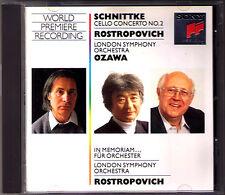 Mstislav ROSTROPOVICH SCHNITTKE Cello Concerto 2 In Memoriam Seiji OZAWA CD 小澤征爾
