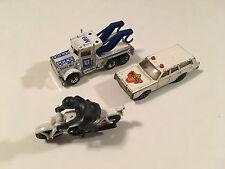 Matchbox Lot Police Peterbilt Tow Truck Mercury Police Car Honda 750 Motorbike