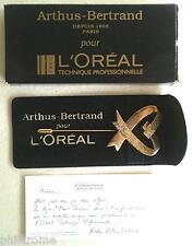 Bijou Broche à foulard Arthus Bertrand parfum L Oreal doré à l'or fin 24 cts