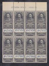 CANADA KGV WEIGHTS & MEASURES $5.00 PLATE BLOCK MNH