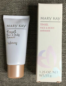 Mary Kay Tinsel Face Body Shimmer 4674 Glistening 1.25oz New in Box
