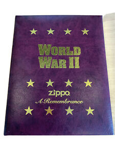 4x ZIPPOS, A REMEMBRANCE WWII VOLUME 2 LIMITED EDITION 1996 4 LIGHTERS, UNSTRUCK