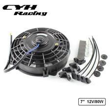 """Universal Engine Transmission 7"""" 12V 80W Oil Cooler Electric Fan Black"""