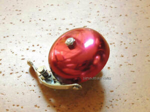 KITAGAWA JAPAN VINTAGE BICYCLE BELL Red color New old stock