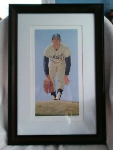 SANDY KOUFAX, LITHOGRAPH, BY ARTHUR K. MILLER, PENCIL SIGNED, EDITION 140/150