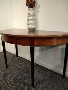 antique mahogany demi lune table