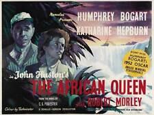 The African Queen Movie Poster 30x40 Humphrey Bogart Katharine Hepburn Robert