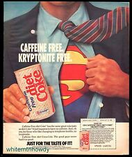 1986 SUPERMAN in Diet Coke Coca-Cola AD Caffeine and Kryptonite Free