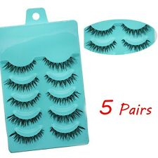 Newest 5 Pairs Long Thick Cross False Eyelashes Bigeye Cosmetics Fake Eye Lashes