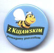 Polish advertising pin / button - We help bees - BEEKEEPING APIMONDIA