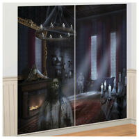 DARK MANOR SCENE SETTER Halloween Party Decoration Ghosts Backdrop Haunted House