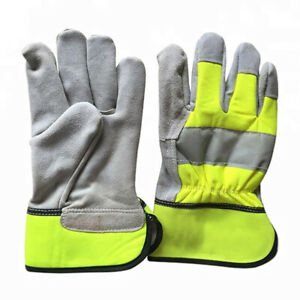 Real Leather Childrens Kids Toddlers Junior Rigger Work Gardening Gloves 6 Sizes