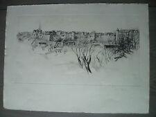 épreuve d'artiste René William THOMAS flan de vieille ville de France signé RW