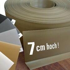 XL Kunststoff Sockelleiste 7 cm PVC Sockelleisten - Band (auch selbstklebend)