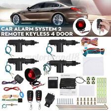 Remote Car Alarm Keyless Entry Security + 4 Door Power Lock Actuator Motor Kit
