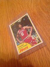 Julius Erving 1980s Dr J Basketball Nba Topps Trading Card Vintage
