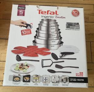 Tefal Ingenio 22 Piece Emotion Stainless Steel Pan Set (New)