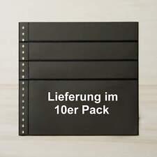 LINDNER Omnia Einsteckblatt 081 schwarz 3x 43 + 1x 141 mm - 10er-Packung