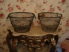 New listing Lot Of Three Antique Wire Baskets