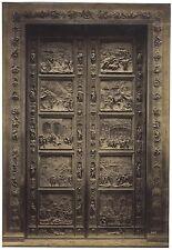 Porte du baptistère Florence Italie Italia Très Grande Photo albumine ca 1865