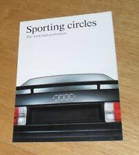 Audi Sport Promotional Brochure 1991-1992 - 90 Quattro Sport 20v 80 Sport 16v