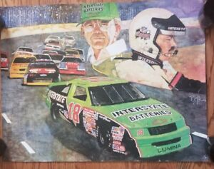 Interstate Batteries 1992 Racing Poster 22x27 Promotion rare mancave race