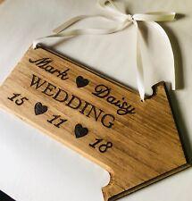 Personalised Wood Wedding Arrow Sign Mr Mrs Rustic Natural Marriage Love Vintage