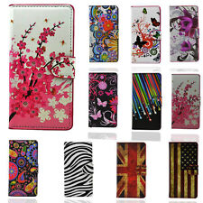 Pattern Flip Wallet Case PU Leather Cover Case Stand for Xperia Cell Phone